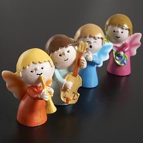 Angeli musicisti resina 4 pz. s2