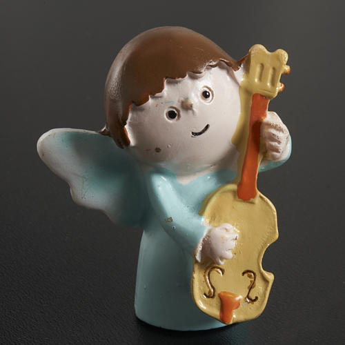 Angels musicians in resin, 4 pieces 3