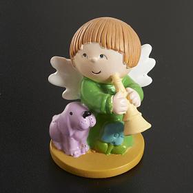 Angeli in resina con animali e strumenti 4 pz. s3