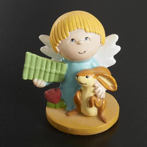 Angeli in resina con animali e strumenti 4 pz. 5