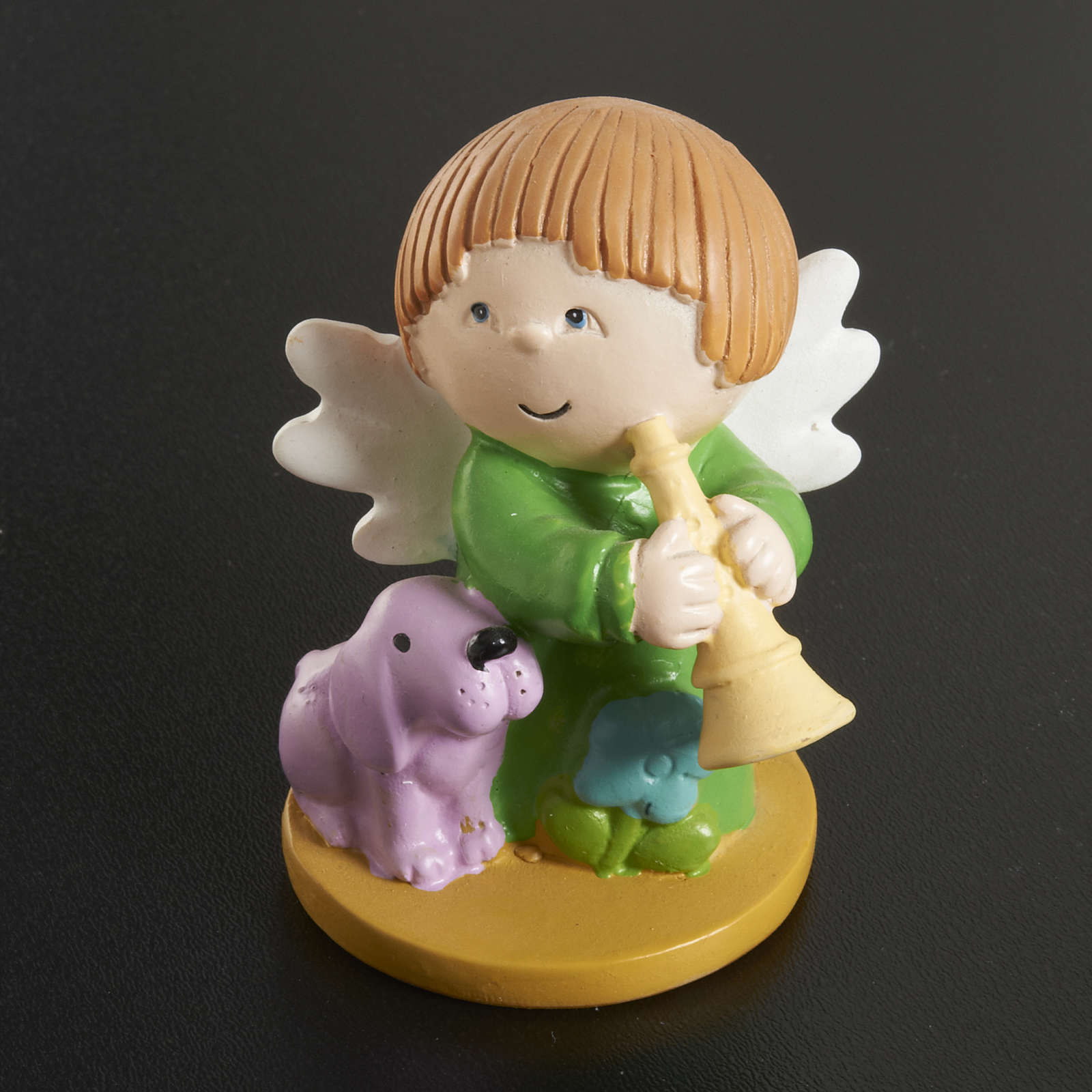 Resin Angels with Animals and Instruments, 4 pieces 3