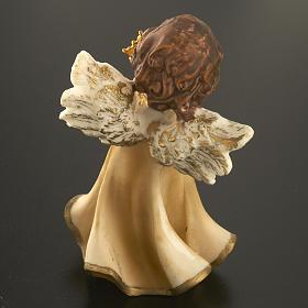Angioletti resina con fiore 4 pz. 12 cm s6