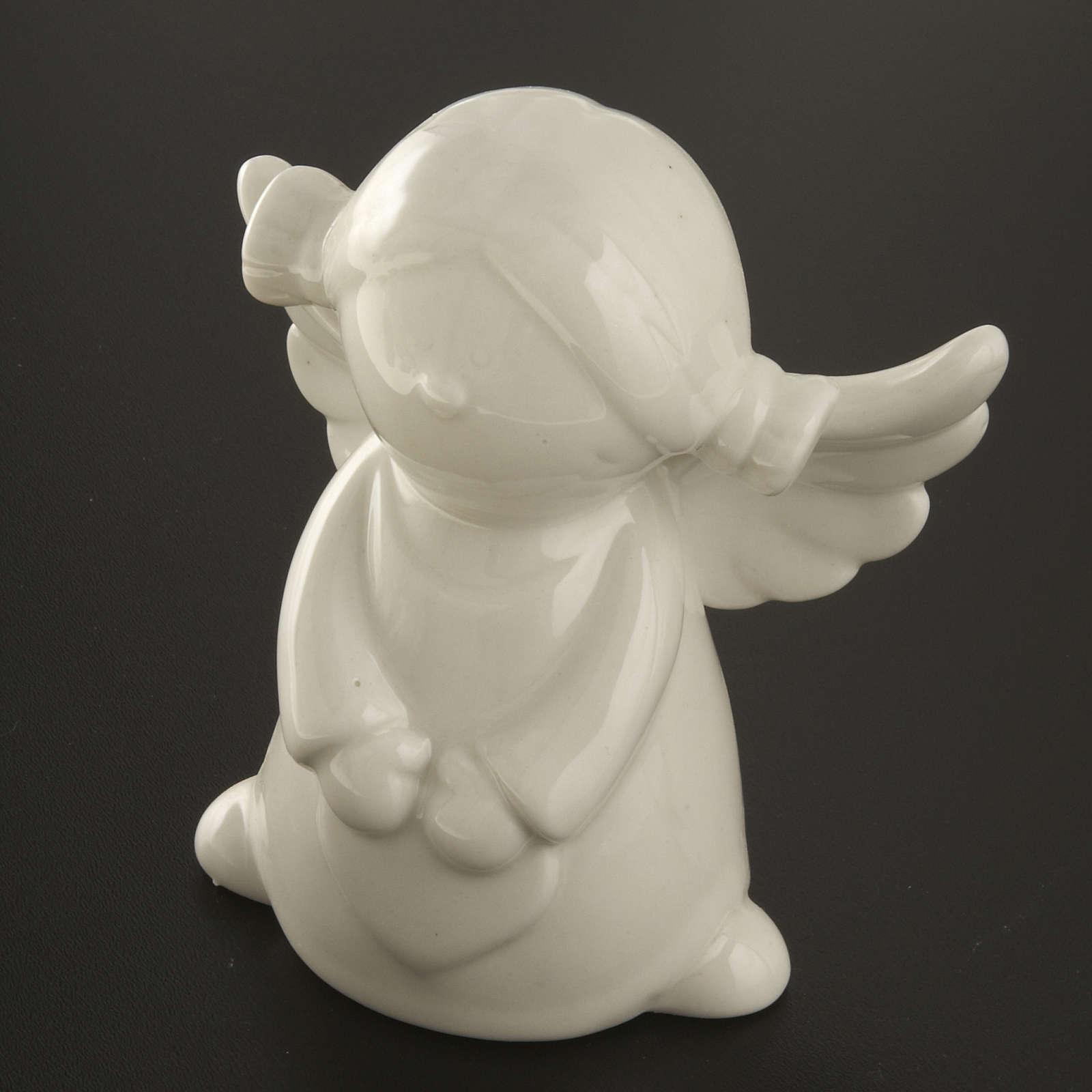 Ángeles en cerámica blanca, 4 unidades 11cm 3