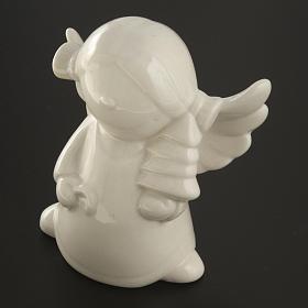 Ángeles en cerámica blanca, 4 unidades 11cm s5