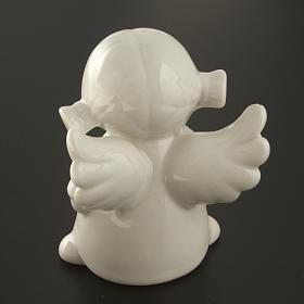 Ángeles en cerámica blanca, 4 unidades 11cm s7