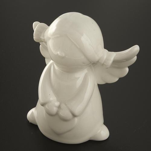 Ángeles en cerámica blanca, 4 unidades 11cm 4