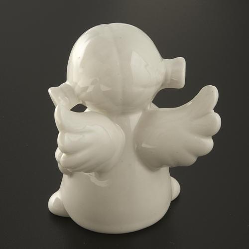 Ángeles en cerámica blanca, 4 unidades 11cm 7