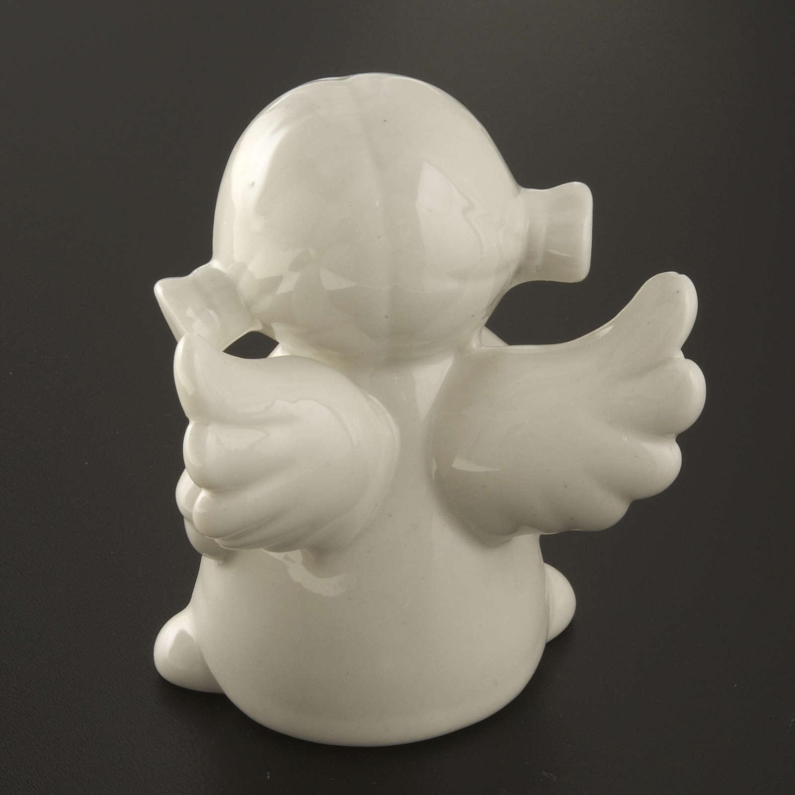 Angeli ceramica bianca 4 pz. cm 11 3
