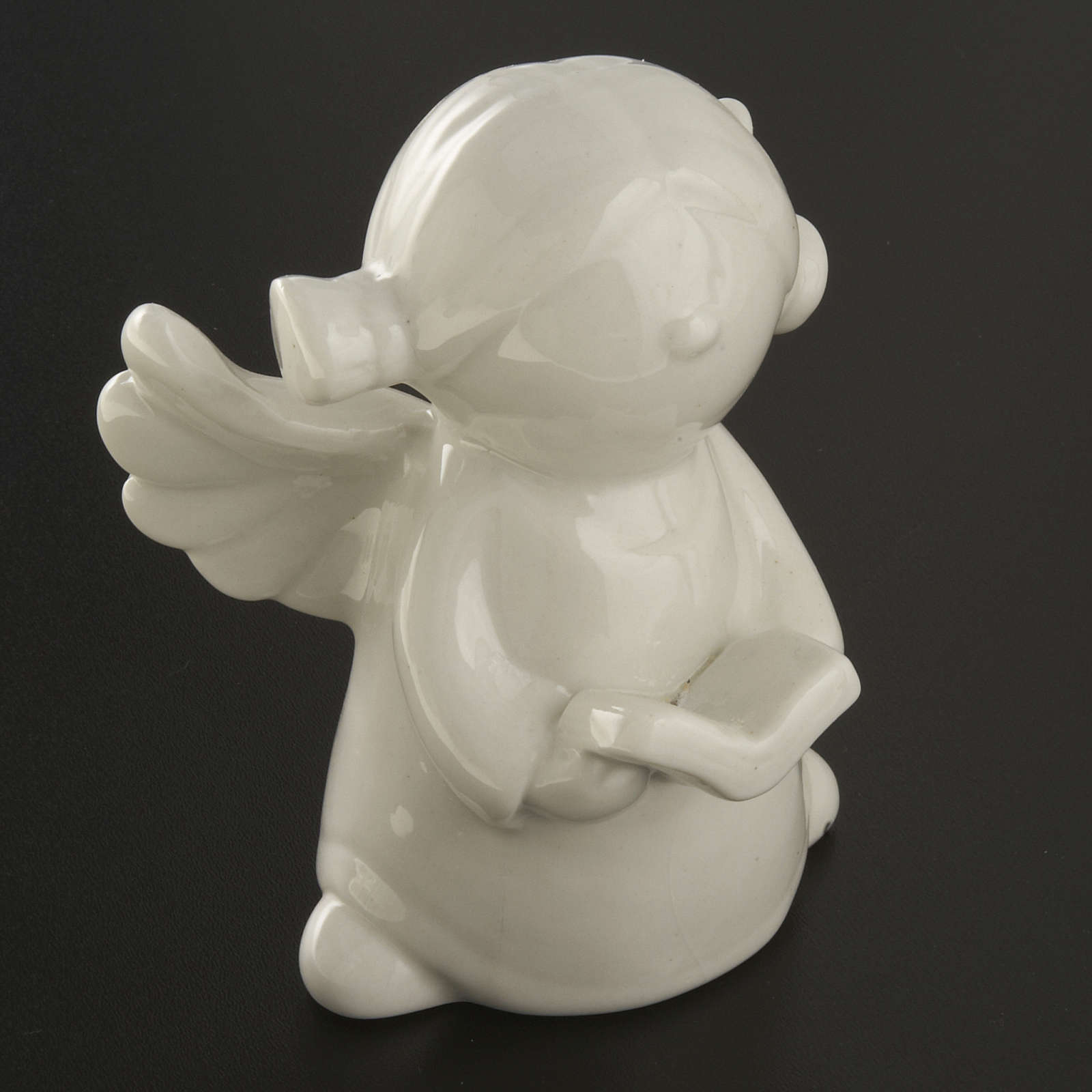 Angels in white ceramic, 4 pieces 11cm 3
