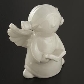Angels in white ceramic, 4 pieces 11cm s3