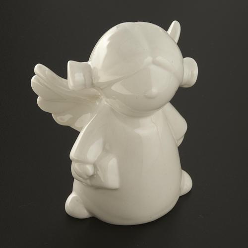 Angels in white ceramic, 4 pieces 11cm 6