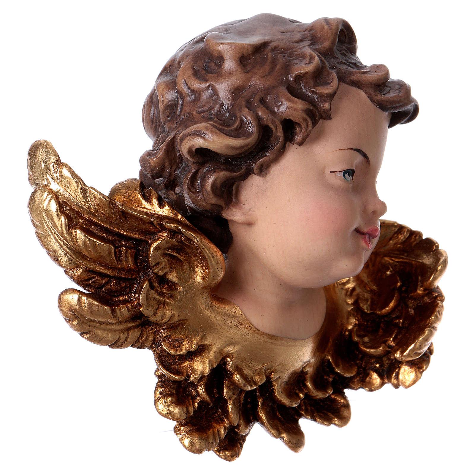 Cabeza de ángel izquierda madera Val Gardena 3