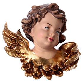 Cabeza de ángel izquierda madera Val Gardena s1