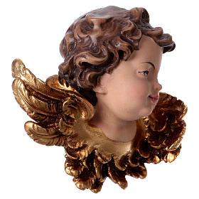 Cabeza de ángel izquierda madera Val Gardena s3