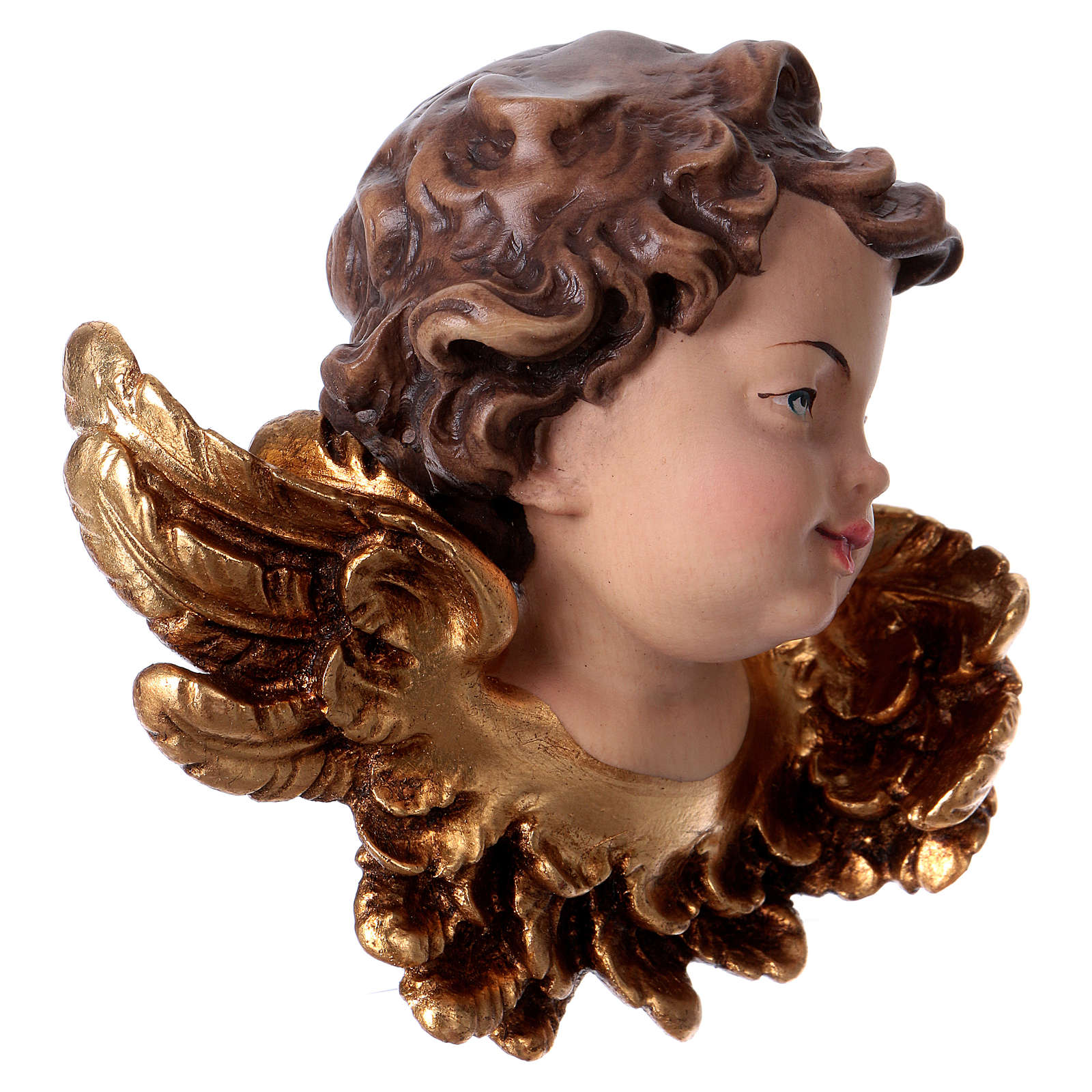 Testina d'angelo sinistra legno Valgardena 3