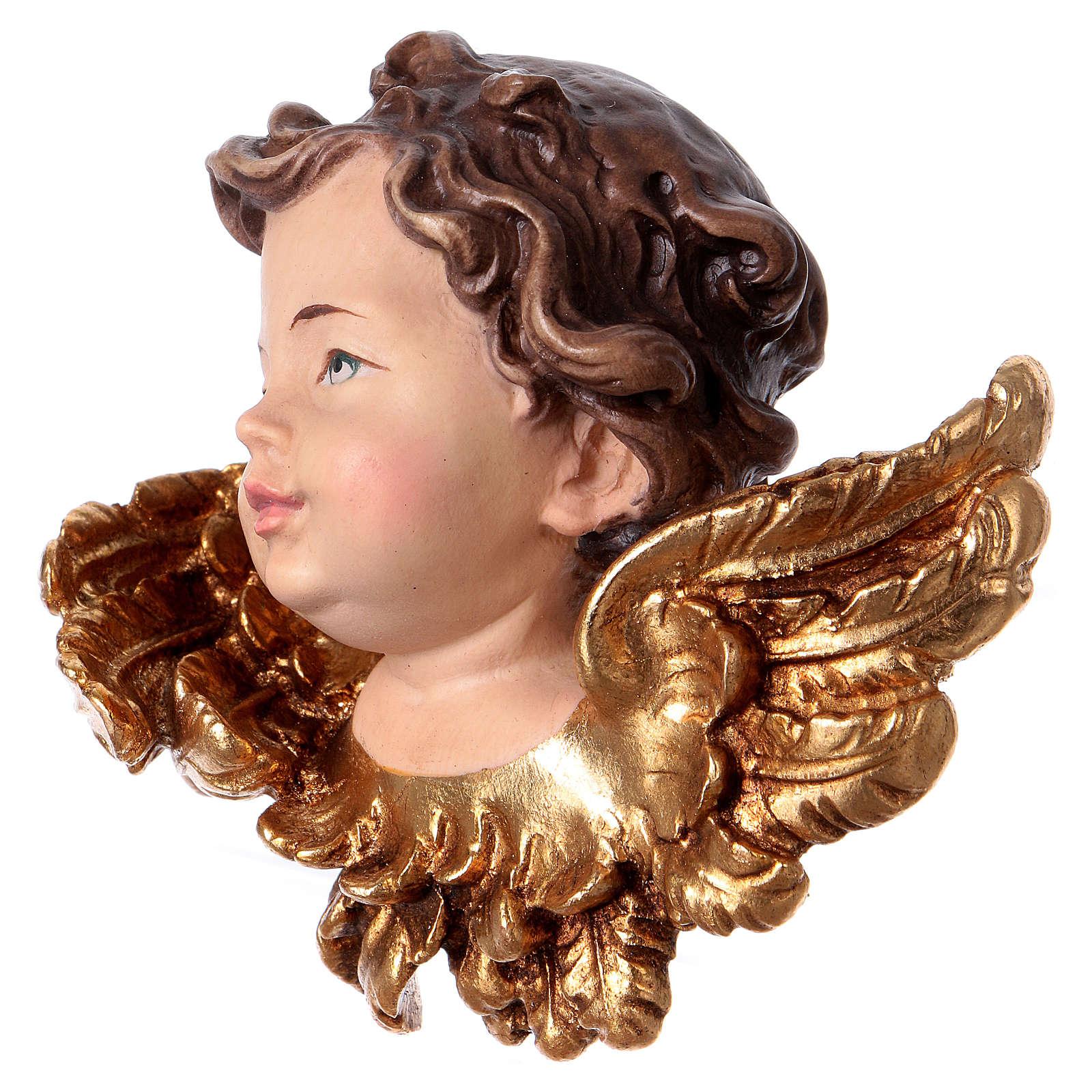 Cabeza de ángel derecha madera Val Gardena 3
