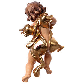 Putto with trombone in wood from Valgardena s4