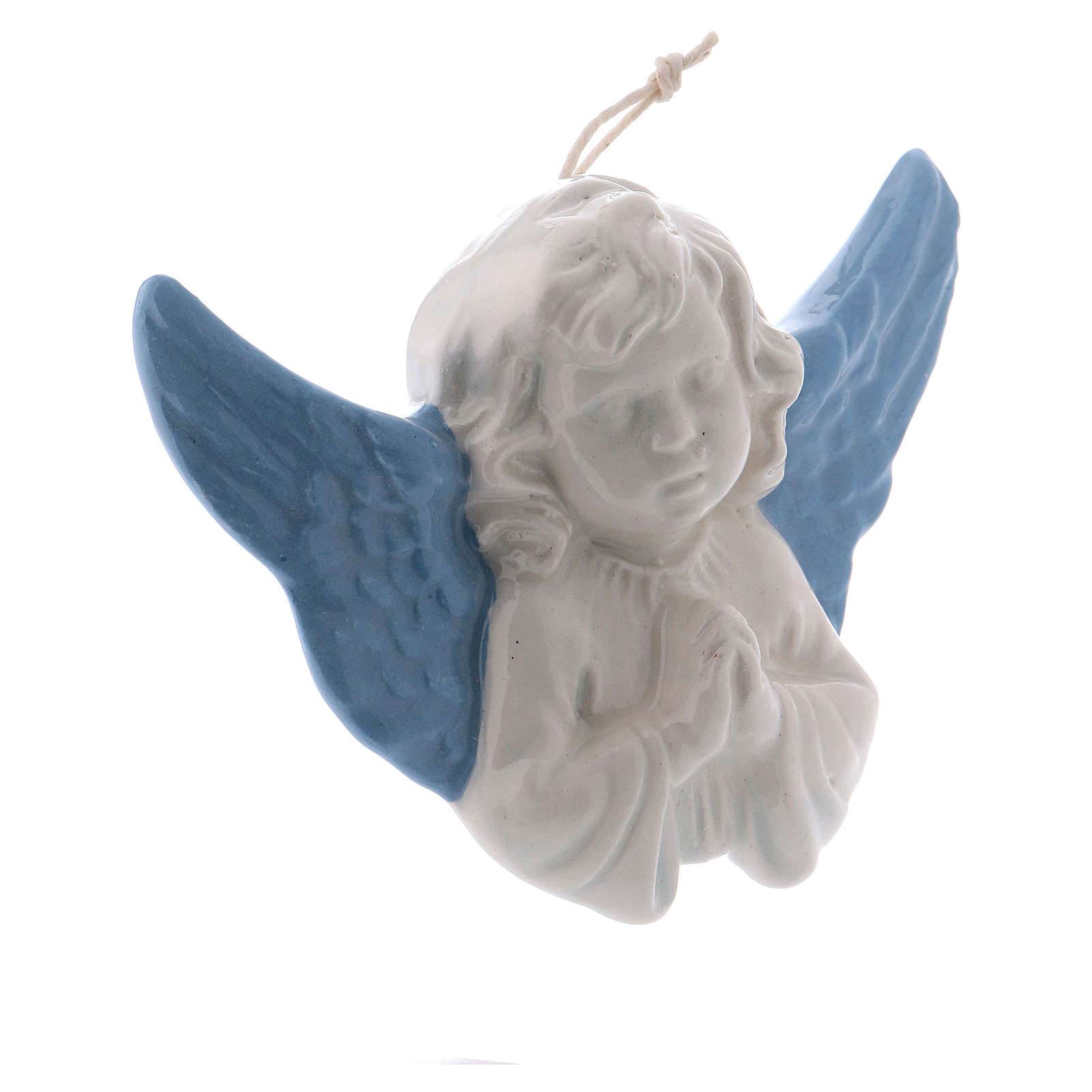 Praying Angel 8 cm in terracotta made in Deruta 3
