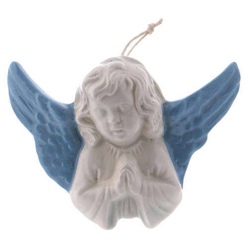 Praying Angel 8 cm in terracotta made in Deruta 1