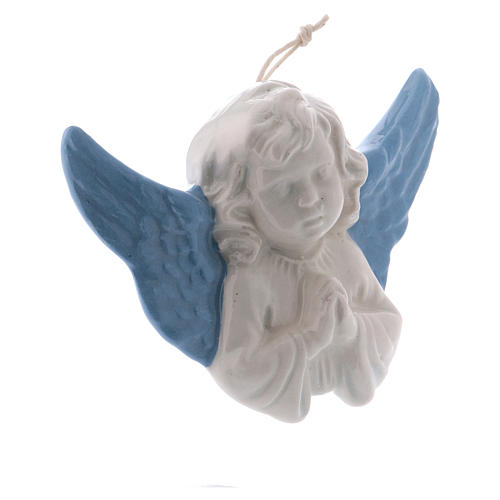 Praying Angel 8 cm in terracotta made in Deruta 2
