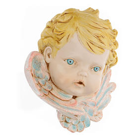 Cabeza de ángel con pelo rubio 19 cm Fontanini s3