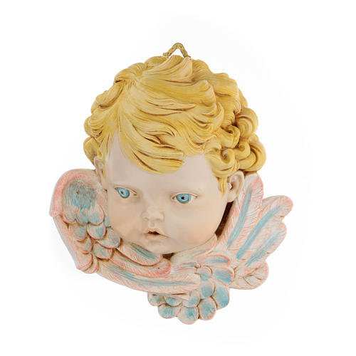 Cabeza de ángel con pelo rubio 19 cm Fontanini 1