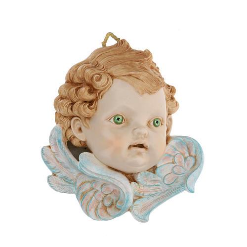Cabeza de ángel ojos verdes 19 cm Fontanini 1
