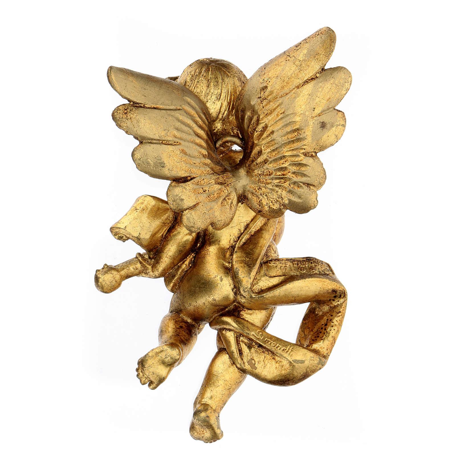Ángel dorado con mandolina Fontanini 17 cm 3