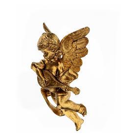 Ángel dorado con mandolina Fontanini 17 cm s2