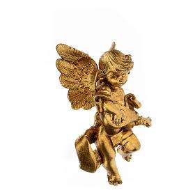 Ángel dorado con mandolina Fontanini 17 cm s3