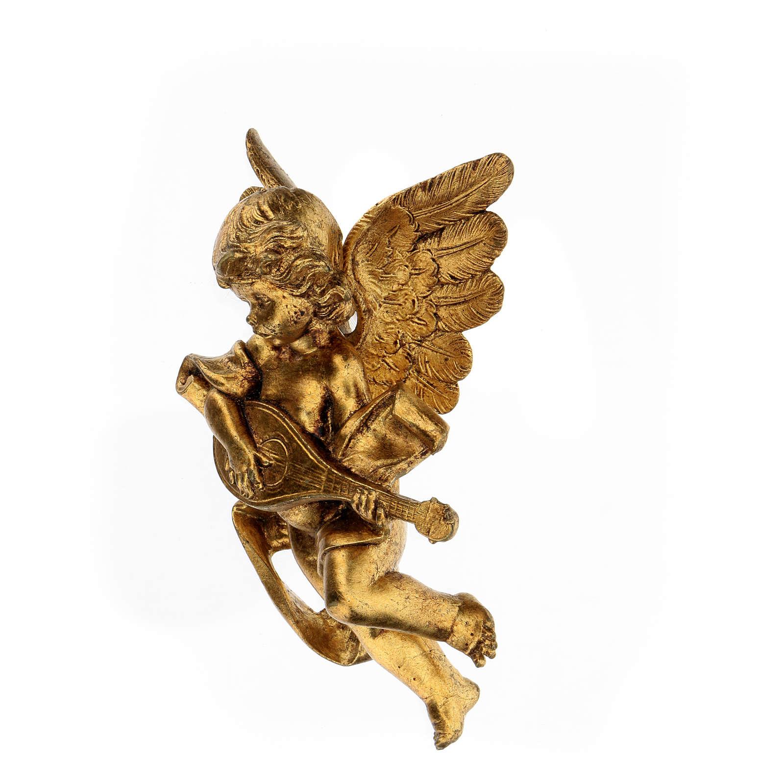 Ange doré avec mandoline Fontanini 17 cm 3