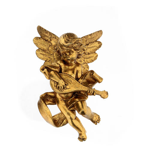 Ange doré avec mandoline Fontanini 17 cm 1