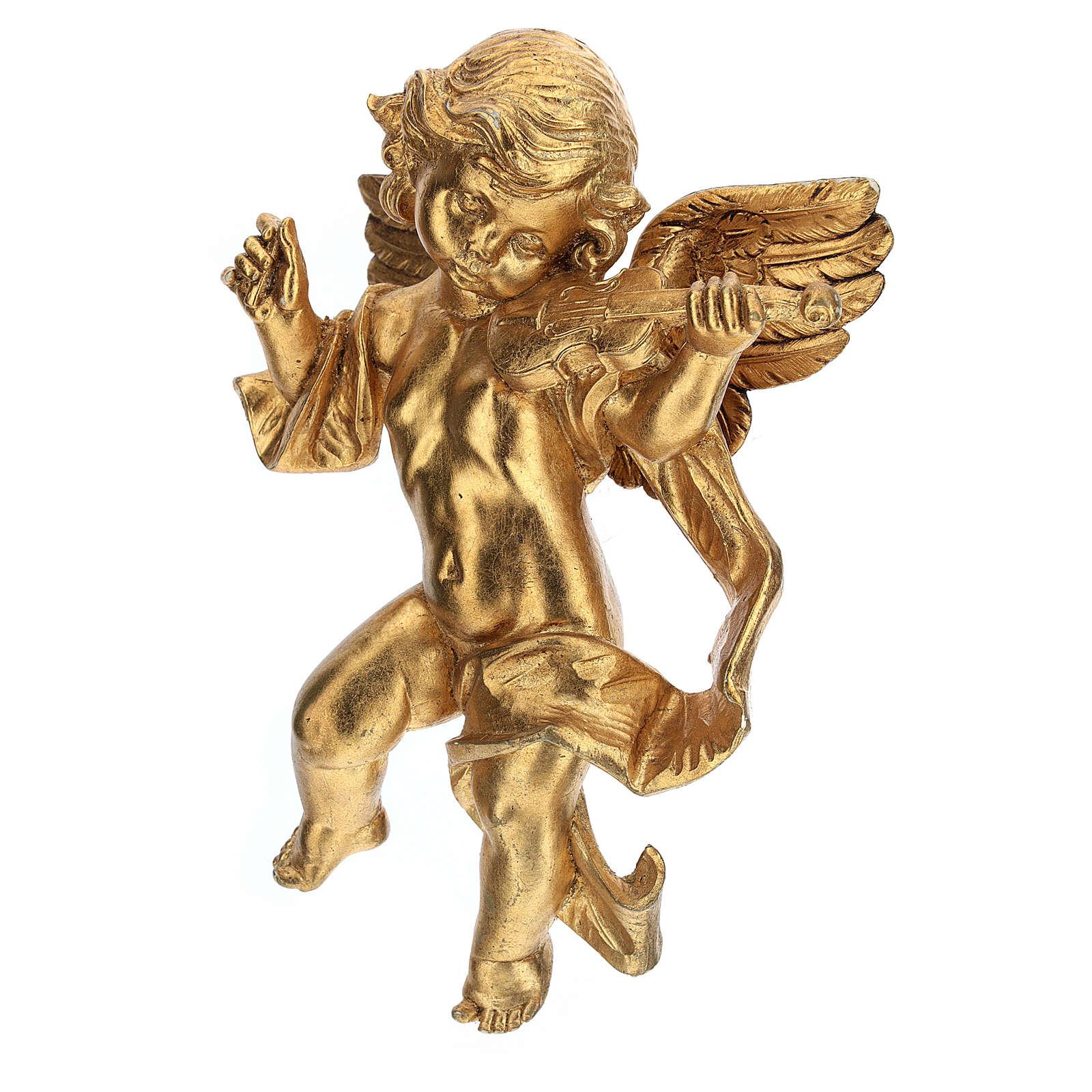 Ángel músico hoja de oro Fontanini cm 27 3