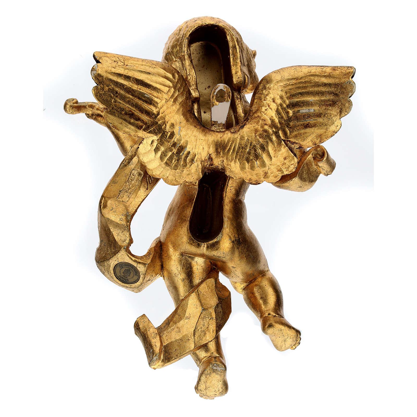 Angelo suonatore foglia oro Fontanini cm 27 3