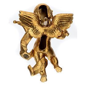 Angelo suonatore foglia oro Fontanini cm 27 s5