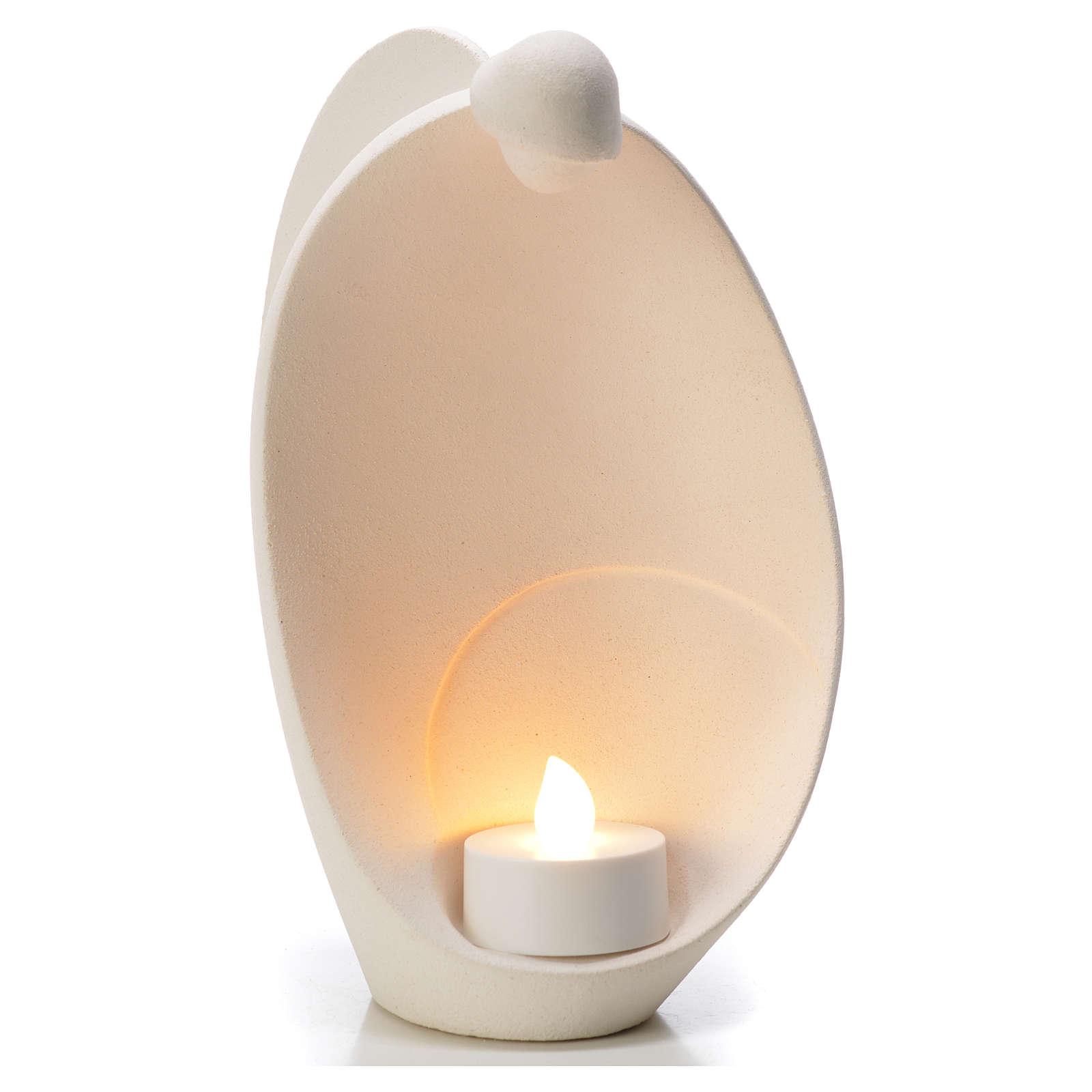 Ángel de la Llama arcilla refractaria Centro Ave 18 cm 3