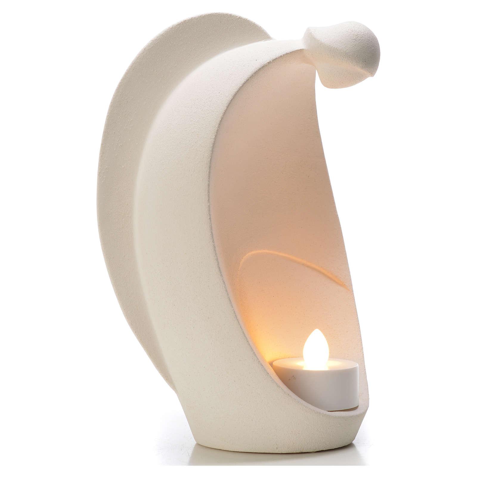 Ange de la Flamme 18 cm argile réfractaire 3