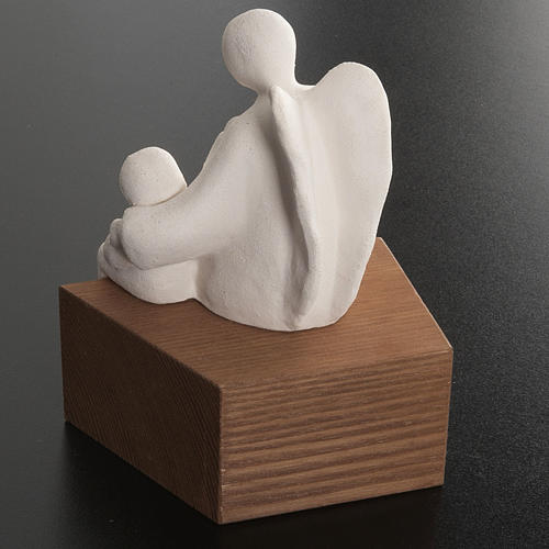 Angel Figurine, Friendship Model, Stylized in Fire Clay 4