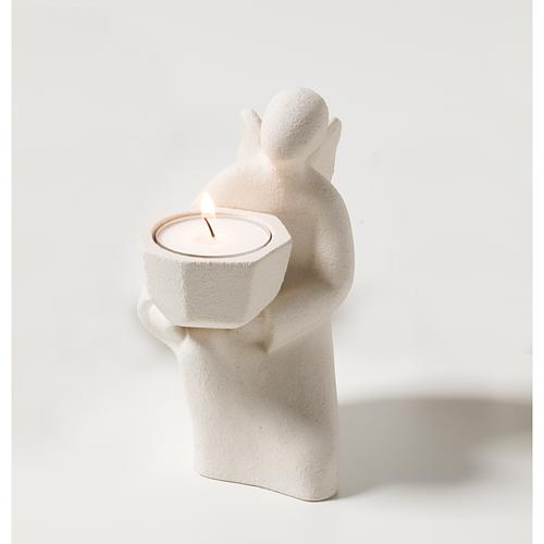 Angelo Adorazione bianco argilla refrattaria 2
