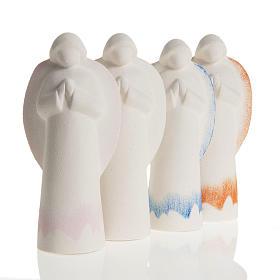 Ángel rezando de arcilla refractaria 4 colores s1