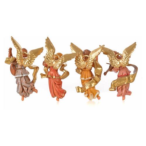 Anjos músicos 4 peças Fontanini 11 cm 2