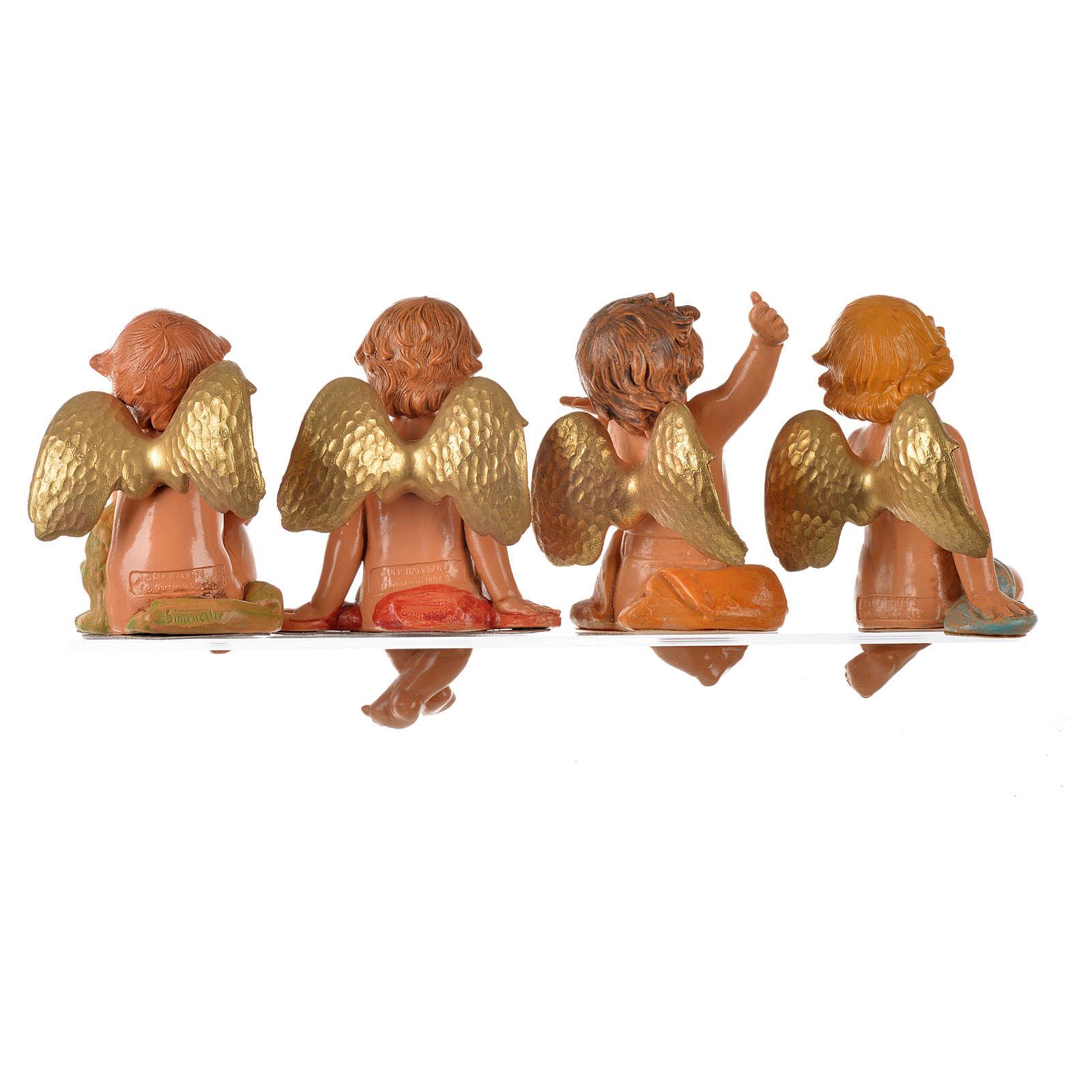 Angeli seduti 4 pz Fontanini cm 12 3