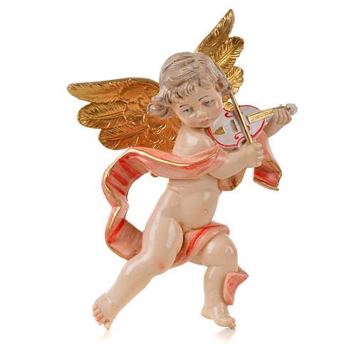 Ángel con violín Fontanini cm. 17 símil porcelana 1