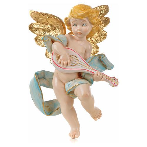 Ange à la mandoline 17 cm Fontanini type porcelaine 1