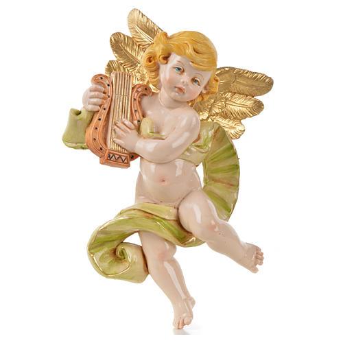Ángel con lira Fontanini cm. 17 símil porcelana 1