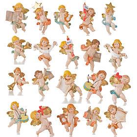 Aniołki różne Fontanini 20 szt. cm 7 typu porcelana s1