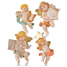 Aniołki różne Fontanini 20 szt. cm 7 typu porcelana s5