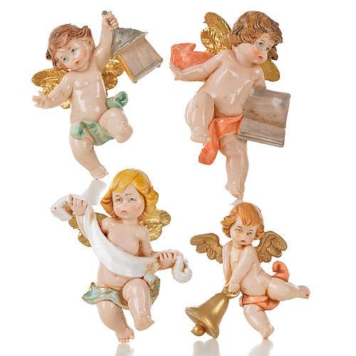 Aniołki różne Fontanini 20 szt. cm 7 typu porcelana 4