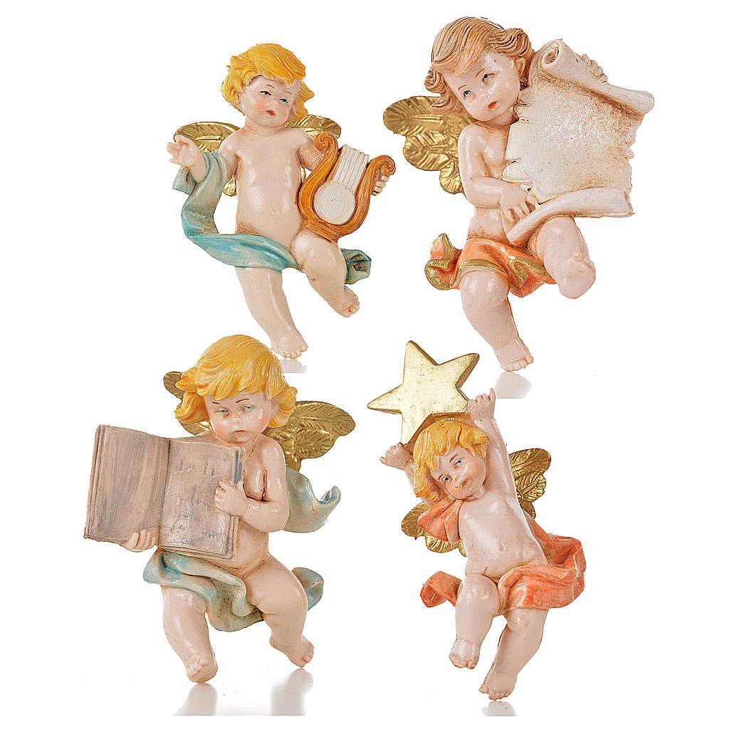 Anjinhos vários 20 peças Fontanini tipo porcelana 7 cm 3