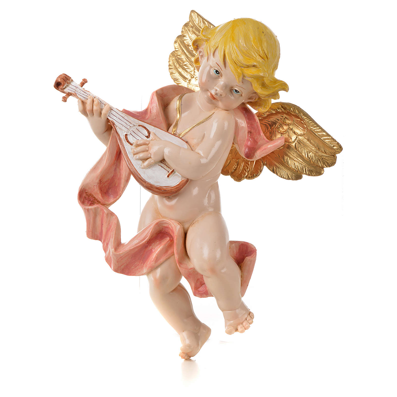 Angelo con mandolino Fontanini 27 cm tipo porcellana 3